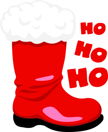 saint nick: Decorate for Christmas with this shiny red Santa Boot.