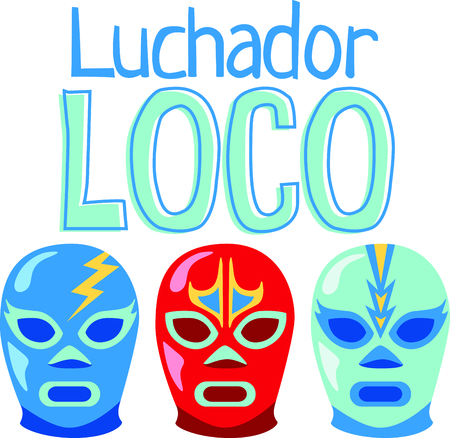 go out: Lucha Libre are the perfect combination for group relaxation!  Give this to your friends and go out in style.  They will love it for happy hour! Illustration