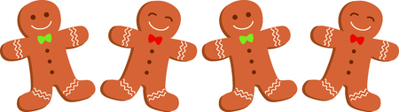 Happy gingerbread men for your holiday cooking and kitchen designs.