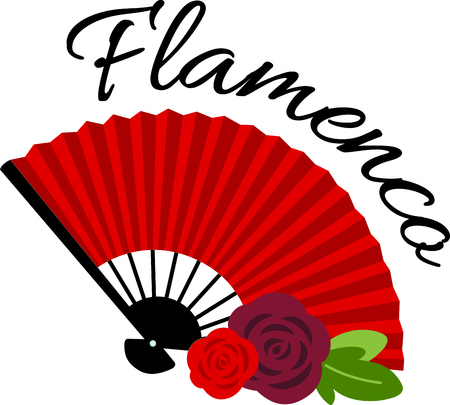 Celebrate Spanish culture with Flamenco fan. Фото со стока - 43843064