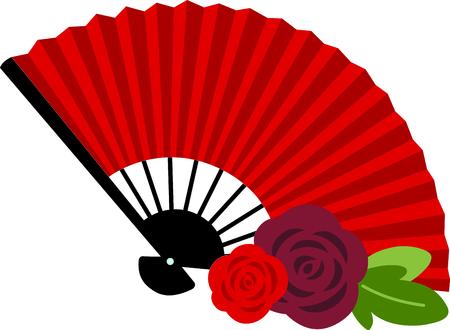 Celebrate Spanish culture with Flamenco fan.