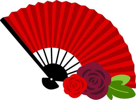 Celebrate Spanish culture with Flamenco fan.