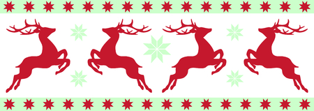 frolicking: Reindeer frolicking around snowflakes is a perfect Christmas border.