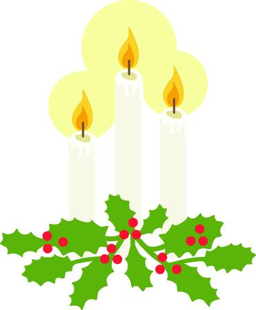 ホリーとキャンドルは、伝統的なクリスマスの装飾が好きな人に最適です。