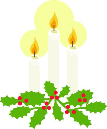 hollies: Candles with holly is ideal for those who like traditional Christmas decor.