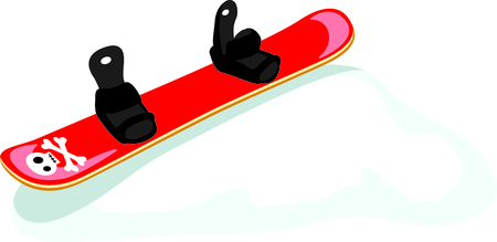 Heres a mod scull  crossbones snowboard for the winter sports person.