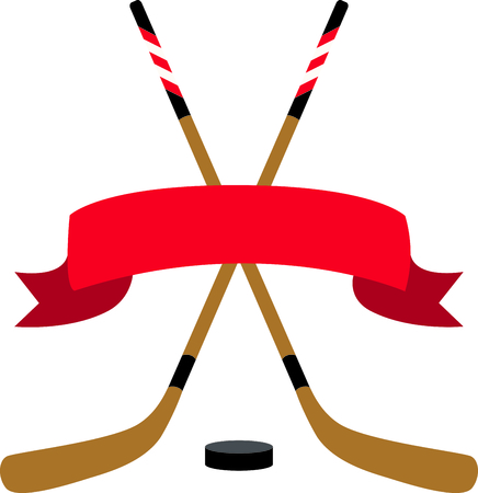 Use this blank caption ribbon for the hockey enthusiast.
