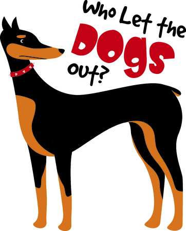 pinscher: Show off your favorite dog with this cute design.