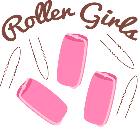 bobby: The old stable of pink sponge rollers and bobby pins are in everyones hair supplies.  Stitch this fun design on your hair towels or beautician cape!