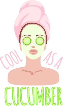 Qué mejor que un día en el spa Este diseño facial diversión es una necesidad para su ropa de hidromasaje. Bastante a sí mismo y su ropa con un viaje a nuestro spa! Foto de archivo - 43844247