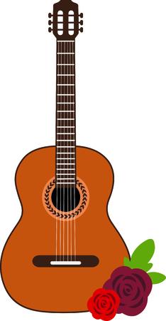 Celebrate Spanish culture with Flamenco guitar. Иллюстрация