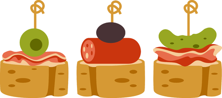 appetizers: Celebrate Spanish culture with Tapas. Illustration