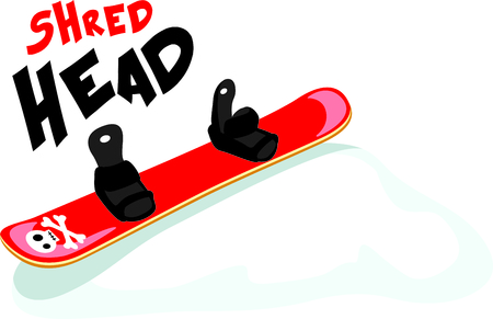 here's: Heres a mod scull  crossbones snowboard for the winter sports person.