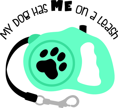 retractable: Show off your favorite dog with this cute design.