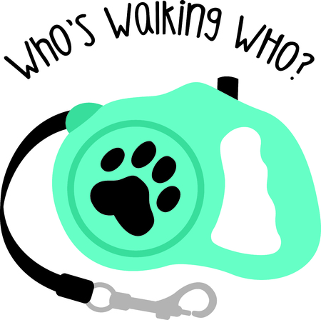 dog walker: Show off your favorite dog with this cute design.