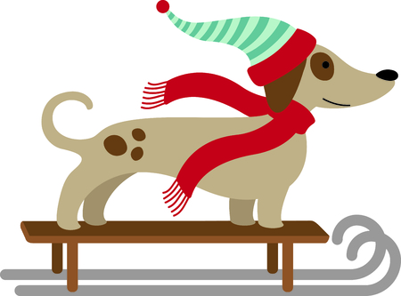 sledge dog: This cute sleding dog would be wonderful for winter themed childrens designs or Christmas decorating.