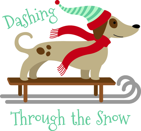 critters: This cute sleding dog would be wonderful for winter themed childrens designs or Christmas decorating.