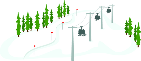 Skiers on a chair lift for the winter sports enthusiast.