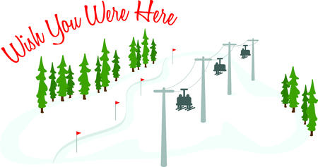 chair lift: Skiers on a chair lift for the winter sports enthusiast.