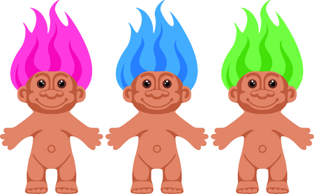 troll dolls: This cute cupie doll is the perfect image for your next design. Illustration