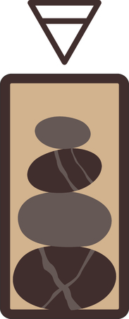 signifies: This stack of stones design signifies one of the classic elements; earth.  Look for the other designs of this set to stitch out a lovely set of towels.