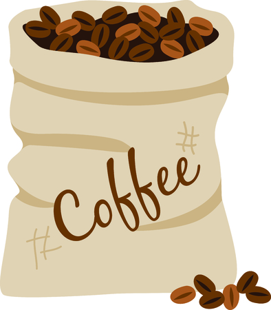 coffee sack: This sack of coffee beans is a cleaver decoration for dish towels in your kitchen or on your coffee service tray.  It really dresses up kitchen themed gifts too.