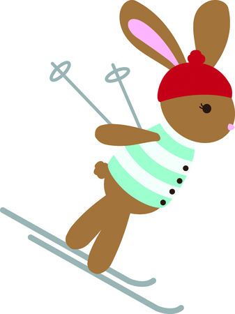 cony: A cute little ski bunny for the child who loves winter sports and animals.