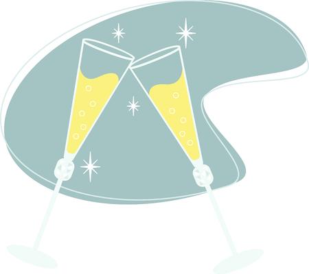 Roosteren champagneglazen kan worden gebruikt om bijna elke speciale gebeurtenis te vieren.