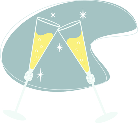 Toasting champagne flutes can be used to celebrate almost any special event.