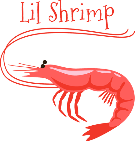 This cute little shrimp is a tasty little addition to cloth napkins.