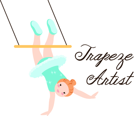 trapeze: Get this circus trapeze girl image for your next design.