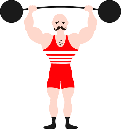 Get this circus weight lifter image for your next design. Ilustrace