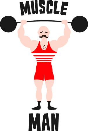 weight lifter: Get this circus weight lifter image for your next design. Illustration