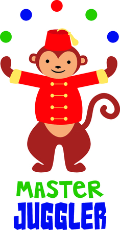 entertainer: Get this circus monkey image for your next design.