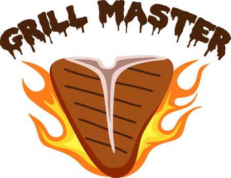 t bone steak: Grill cooks love a delicious steak.