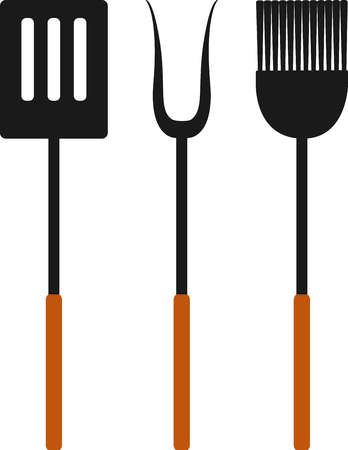 Grill cooks like nice utensils to work with. Imagens - 43867306