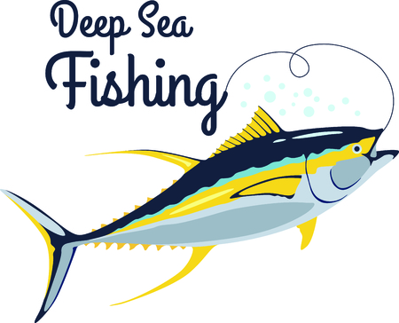 sea fishing: Call it tuna, call it ahi, call it yellow fin or even sushi - this fish fits the bill when you need a neatly stitched fish.