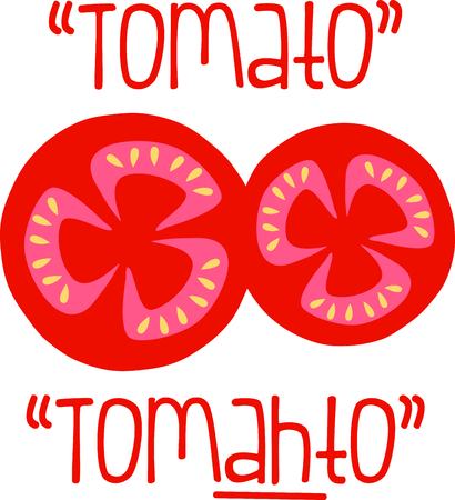 Delicious tomatoes are a summer time food favorite. 向量圖像