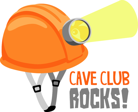 Grab your gear and explore a cave.  Get this image for your next design. Illusztráció