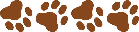 Have a your dog with you always with these little paw prints.