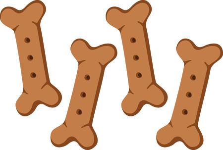 Give your dog some special treats. Ilustração