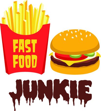 Frieten complimenteren een grote hamburger. Stockfoto - 43867414