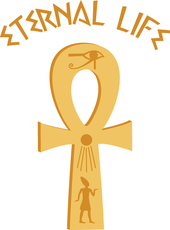 Celebrate egyptian culture with an ankh.