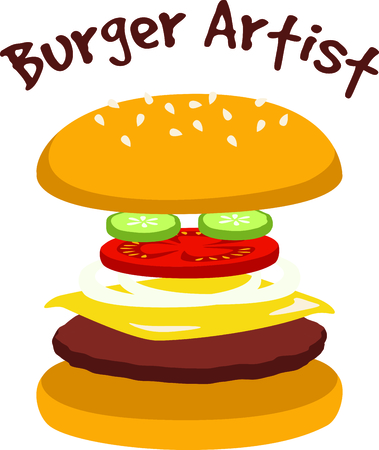 Cheeseburgers are a fast food delight. Illustration