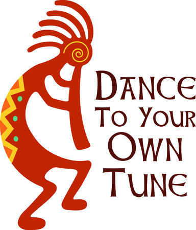 A dancing Kokopelli is the perfect image for your Southwest design.