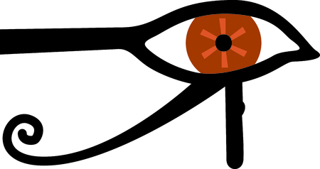 beliefs: Celebrate egyptian culture with an eye of Ra. Illustration