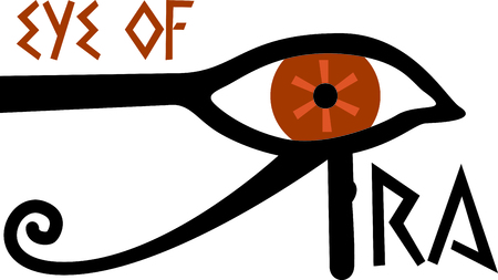 Celebrate egyptian culture with an eye of Ra. Иллюстрация