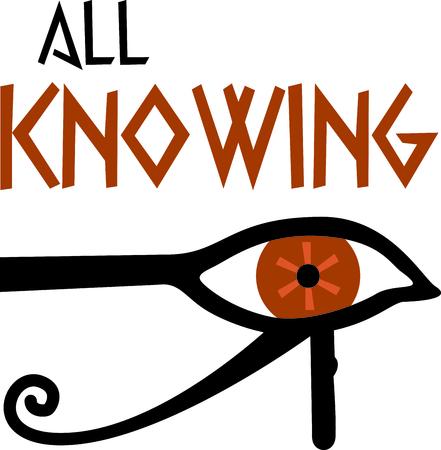 Vier Egyptische cultuur met een oog van Ra.