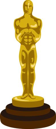 당신이 영화를 즐길 수 있다면 당신은 당신의 자신의 오스카를 가진 사랑합니다. 스톡 콘텐츠 - 43867461