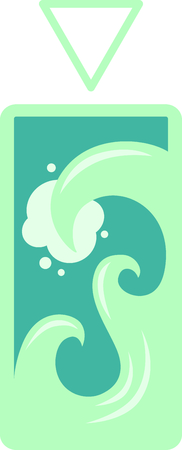 signifies: This wave design signifies one of the classic elements; water.  Look for the other designs of this set to stitch out a lovely set of towels.
